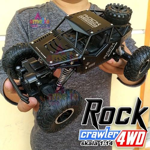 Remote Kontrol ROCK CRAWLER SKALA 1/14 BESAR 4WD / 4x4 Off-Road 2.4ghz Climbing Car Series - RC Offroad / RC Drift / RC Rock Crawler Besar / Mainan Anak Laki-Laki / RC Monster / RC Rally Car - HITAM