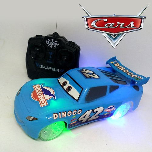 Mainan RC Cars McQueen Roda Menyala / Mainan Mobil Remote Control / Mainan remote control  / Mainan Mobil / Mobil RC / Mainan Edukasi / Mainan Anak / Promo Mainan Anak - BIRU