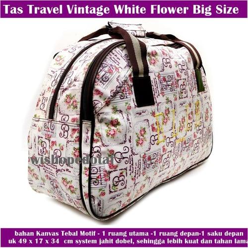 Tas Travel Ell White Flower