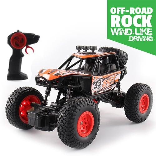 Mainan Anak Laki Laki Mobil Remote Control RC Crawler Rock Climbing Offroad / RC Drift / Mobil Remote Kontrol Offroad - ORANGE