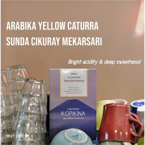Kopi Arabika Yellow Caturra Sunda Cikurai Mekarsari 200 Gr