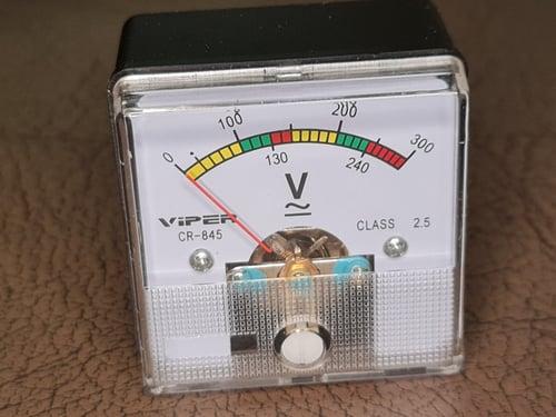 panel meter analog model colok langsung ke listrik 220v AC