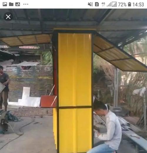 Produsen Booth Kontainer Waralaba 0822 2221 7966