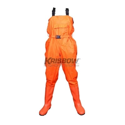 Chest Waders Orange Uk.M-L-XL 39-44 Krisbow 10120103