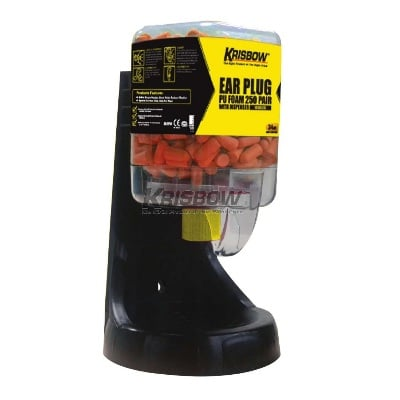 Pelindung Telinga Ear Plug PU Foam 250 Pair With Dispenser Krisbow 10146287