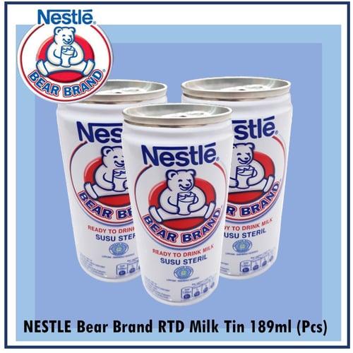NESTLE Susu BearBrand RTD Milk Tin 189ml Perkaleng