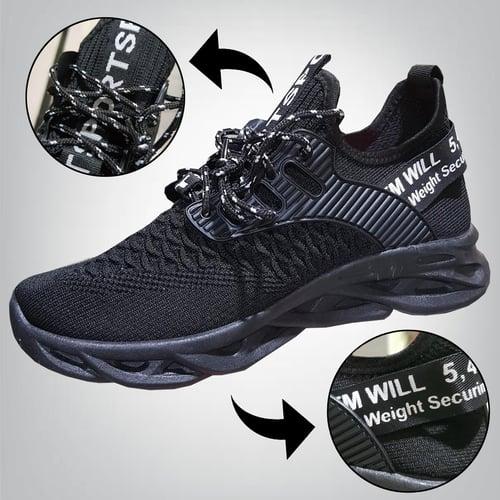 A1028 Sepatu Sneakers Cowok Pria Solid Net Hombre