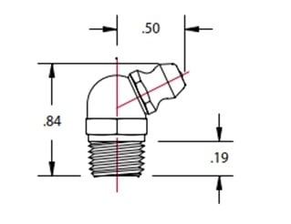 1612-B 1/8 inch PTF fittings 64 degree type