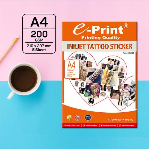 Kertas e-Print Inkjet Tattoo Sticker