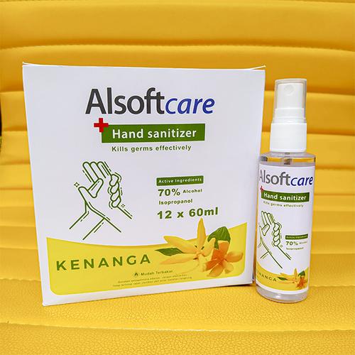 Handsanitizer Spray Alsoftcare Varian Kenanga 60ml 1Box isi 12pcs