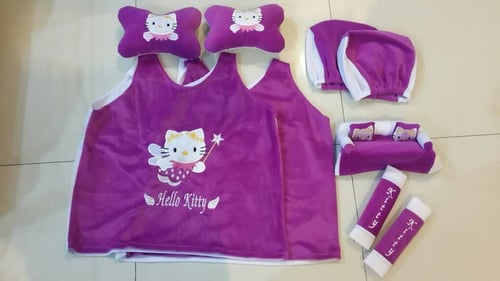 Bantal Mobil Exclusive 5 in 1 Hello Kitty Ungu