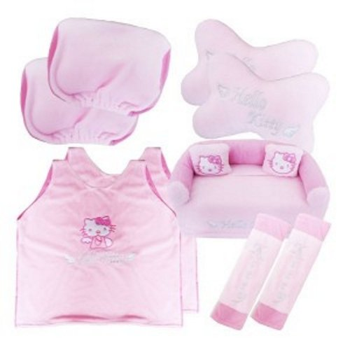 Bantal Mobil Exclusive 5 in 1 Hello Kitty Pink