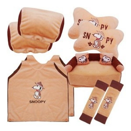 Bantal Mobil Exclusive 5 in 1 Snoopy Coklat