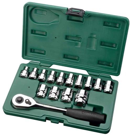 Kunci Socket Set 15 Pcs 6pt 1/2 Inch (METRIC) 08005ME SATA TOOLS