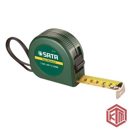 Meteran 25 mm x 7.5 m meter ABS Case Tape Metric SAE 91323 SATA
