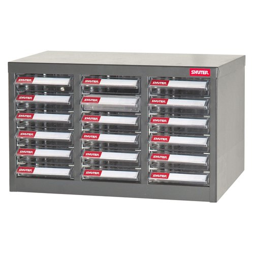 SHUTER Steel Parts Cabinet A6P 18 Drawer Industry Heavy Duty A6-318P