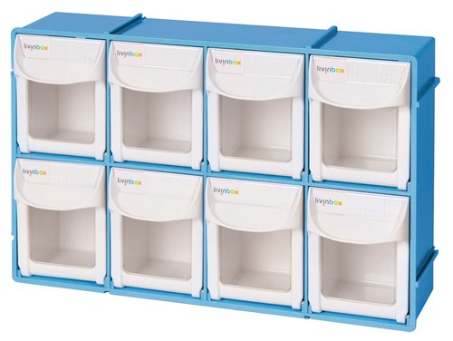 SHUTER Tempat Penyimpanan 4x2 Flip Out Bin Organizer Kotak LIVINBOX FO-308
