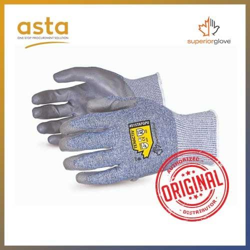 Sarung tangan TenActiv 15 Gauge With Grey Polyurethane Palms S15TAFGPU