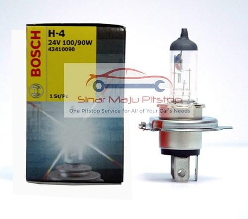 BOSCH Bohlam Halogen Lampu Mobil H4 24V 100-90W P43T