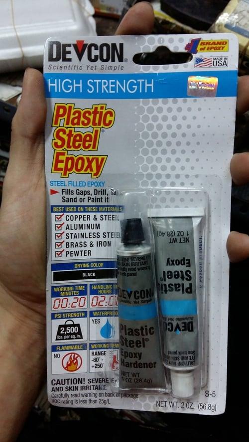 DEVCON Lem Besi Plastic Steel Epoxy Daya Rekat Sangat Kuat