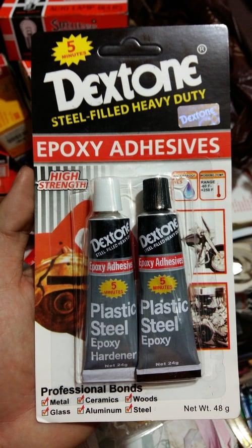 DEXTONE Lem Epoxy Besi Plastik Kaca Kayu Keramik