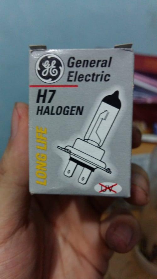 Bohlam Halogen H7 GE Lampu Kabut Mobil Original 12V 55W
