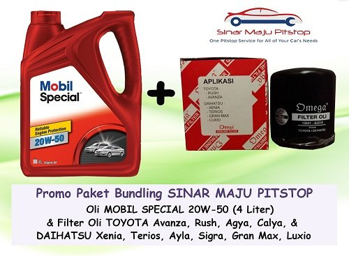 Promo Paket Bundling EXXON MOBIL SPECIAL 20W-50 4 LITER & Filter Oli DAIHATSU GRAN MAX & DAIHATSU LUXIO ORIGINAL