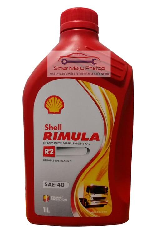 SHELL Rimula Pelumas Oli Mesin Mobil Diesel Ori 1L R2 SAE-40