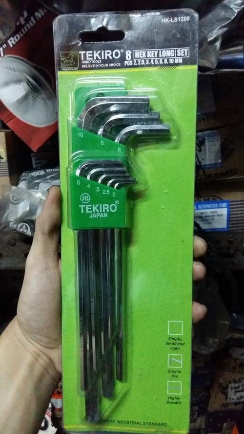 TEKIRO Kunci L Set Panjang Hex Key Long Set 8Pcs