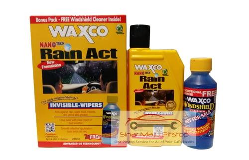 WAXCO Rain Act Cairan Pelapis Kaca Mobil Invisible Wiper Ori