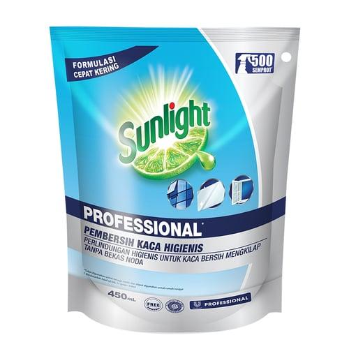 Sunlight Professional Pembersih Kaca 450 mL