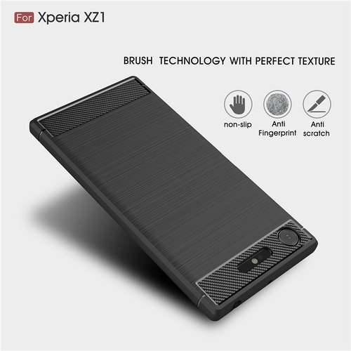 Case Sony Xperia XZ1 Softcase Black Armor