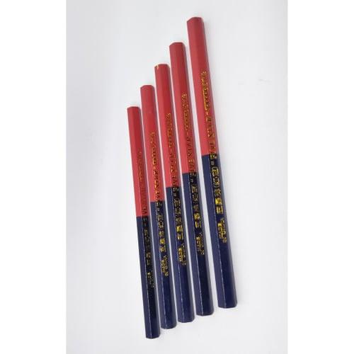 Pensil pola jahit warna merah dan biru