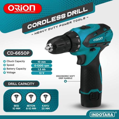 Mesin Bor Baterai Tangan / Orion Cordless Drill CD6650P