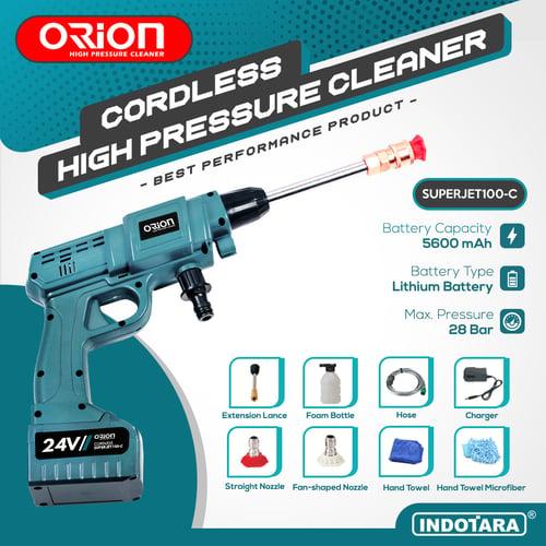 Alat steam cuci motor & mobil Jet Cleaner Baterai Cordless - Orion SUPERJET100C