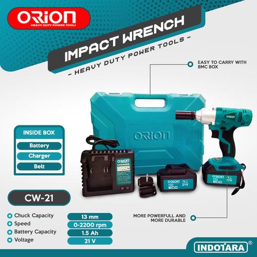 CORDLESS IMPACT WRENCH mesin impact pembuka baut - Orion CW-21