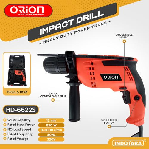 Mesin Bor / Impact Drill Listrik Orion - HD-6622S (With BMC Box)