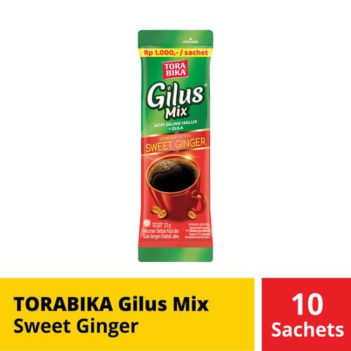 Torabika Gilus Mix Sweet Ginger 10 Sachets 23 Gr