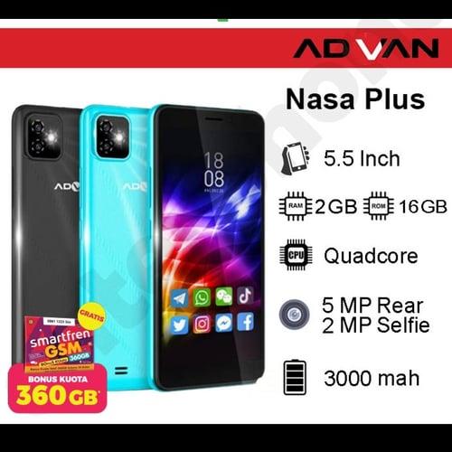 Advan Handphone Nasaplus 2 GB 16 GB Black + JBL