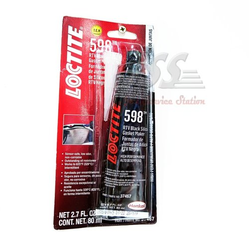 Loctite 598 RTV Black Silicone Gasket Maker isi 80ml