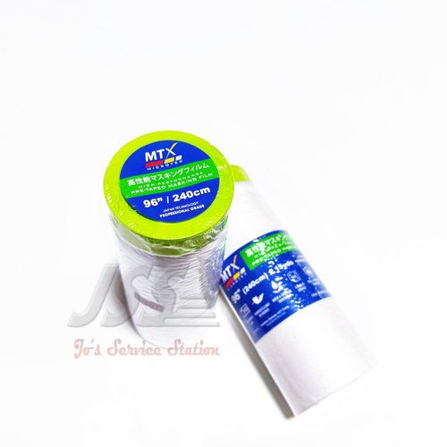 Microtex MTX Pre-Taped Masking Film 96 inch ( 240cm) x 15 yards - Per Pcs