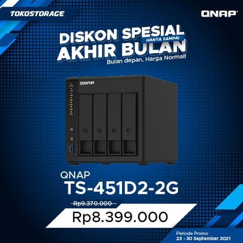QNAP TS-451D2-2G 4 Bay NAS 2GB Private Cloud Storage TS 451D2