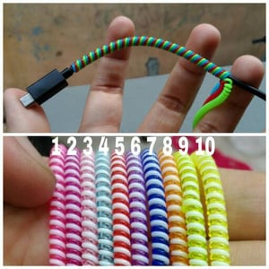 Cord Cable / Pelindung Kabel / Pelilit Kabel 2 Tone / 2 Warna Colourful Good Quality