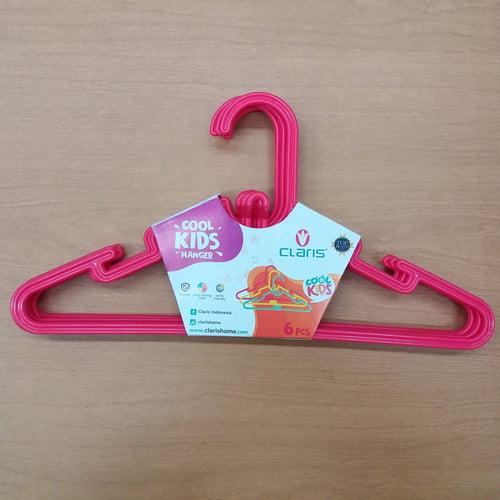 Claris Kids Hanger 0150-6 (Set 6 Pc) / Gantungan Baju Anak Red