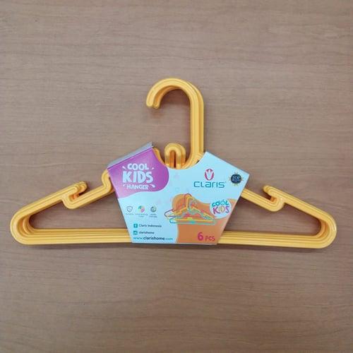 Claris Kids Hanger 0150-6 (Set 6 Pc) / Gantungan Baju Anak Yellow