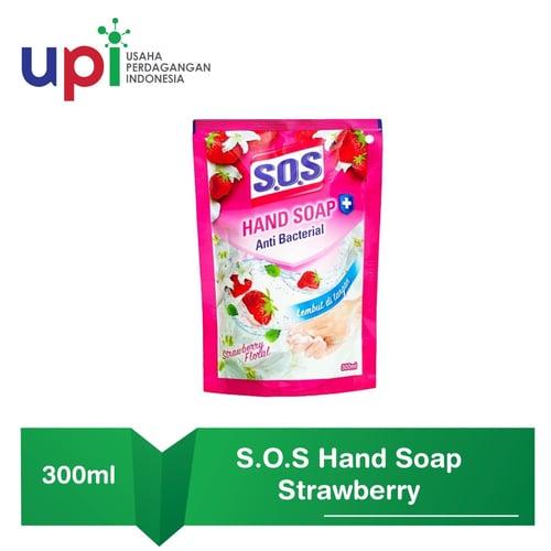 SOS Sabun Cuci Tangan Strawberry 300ml