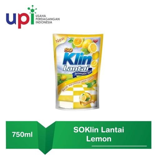 SoKlin Pembersih Lantai Pouch Lemon 780ml