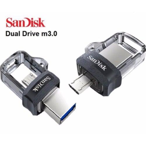 SANDISK Flashdisk Ultra Dual Drive OTG 32GB USB m3.0 - SDDD3-32G