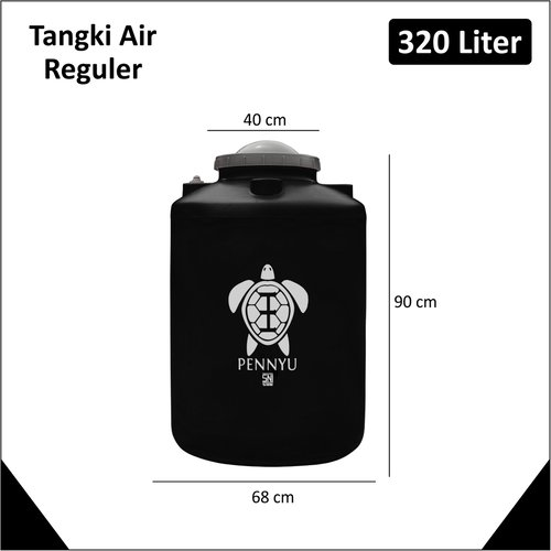 PENNYU Tangki Air Tandon Toren 320 liter Hitam
