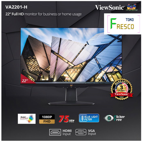 Monitor LED 21 ViewSonic VA2201 H 75Hz Adaptive Sync